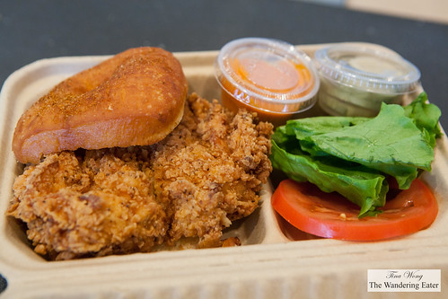 Old Bay fried chicken sandwich