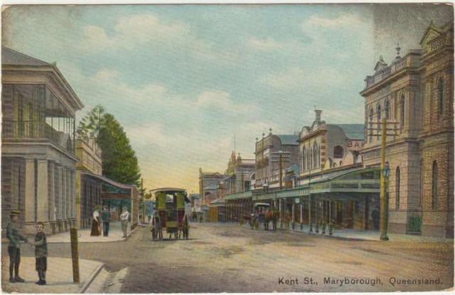 Kent Street, Maryborough, Qld, Australia - circa 1910