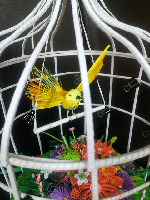 Quilled Bird in Cage