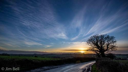 sunset sky tree pentax derbyshire sigma wideangle 1020 k5 jimbell shottlegate