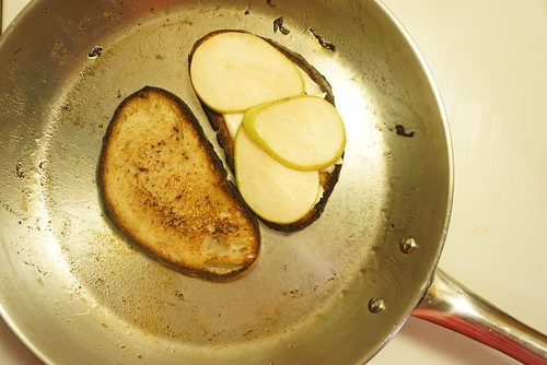 caramelized onions and pear grilled brie sandwich