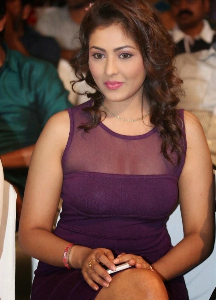 Telugu Babe Madhu Shalini in Purple Short Skirt at Ladies and ...