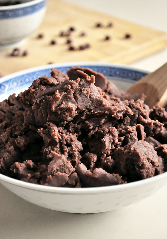 Homemade red bean paste