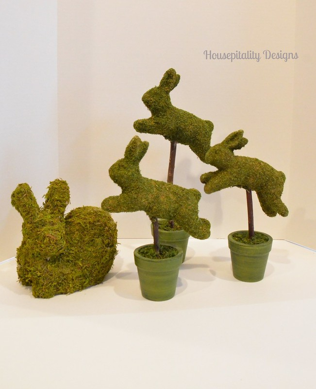 Moss Covered Bunnies-Housepitality Designs