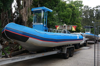 The boat for our snorkelling trip