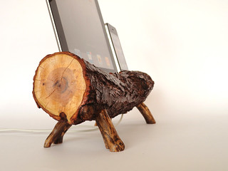 Rustic dual dock for Apple devices