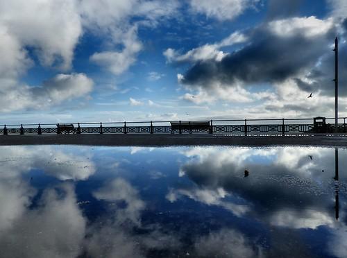 england sky reflection clouds reflections brighton hove bluesky promenade eastsussex autofocus hovelagoon simplysuperb