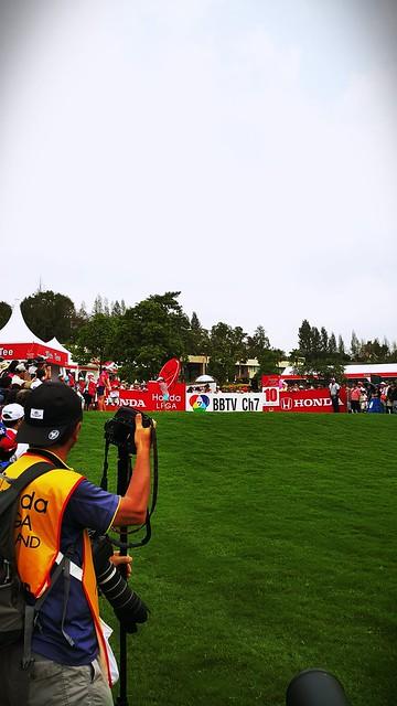 visit Honda LPGA at Siam CC Old course.Ai Miyazato is preparing tee off at #10