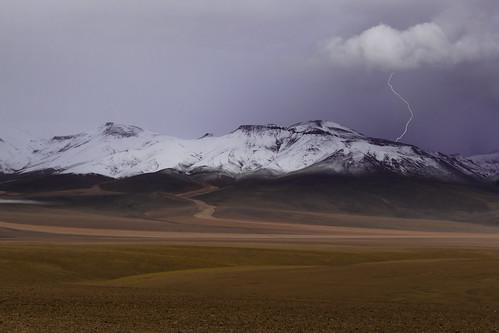 Tormenta en la Reserva Natural Eduardo Avaroa   Bolivia