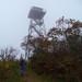 David entering Frying Pan Mountain Lookout Tower by daveynin