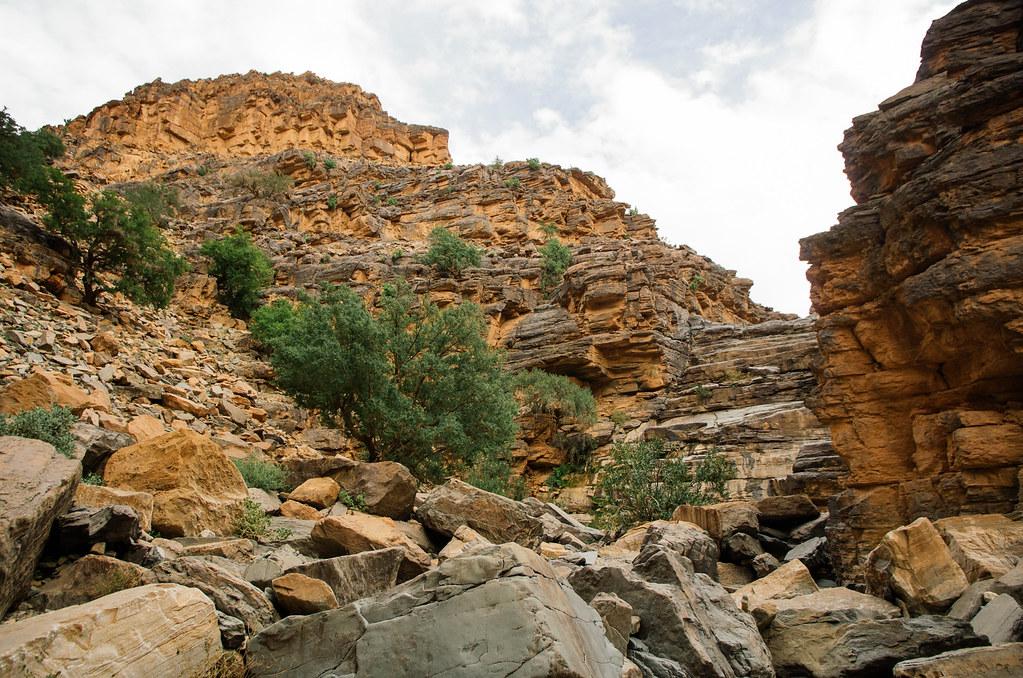 Trek sans guide au Maroc - 5 jours dans l'anti-Atlas - Retour dans le canyon