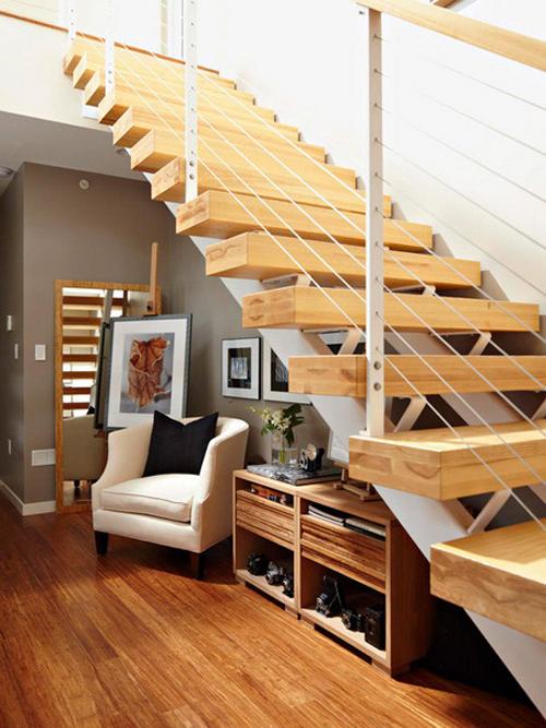 Thiết kế cầu thang thông minh cho những căn nhà diện tích khiêm tốn-Phần 1