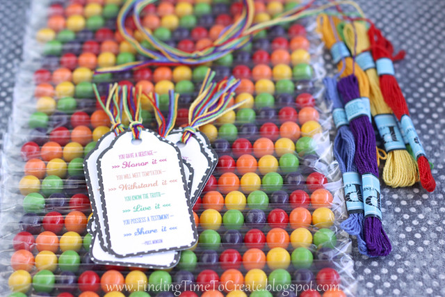 Candy tubes with quote