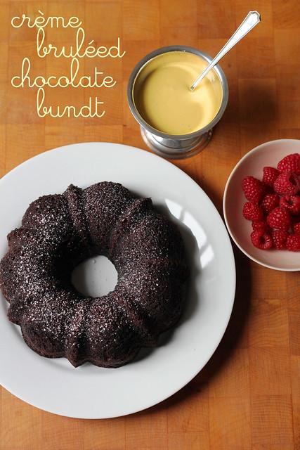 crème bruléed chocolate bundt