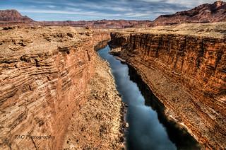 Colorado River at the Navajo Bridge, Arizona, Feb 2015