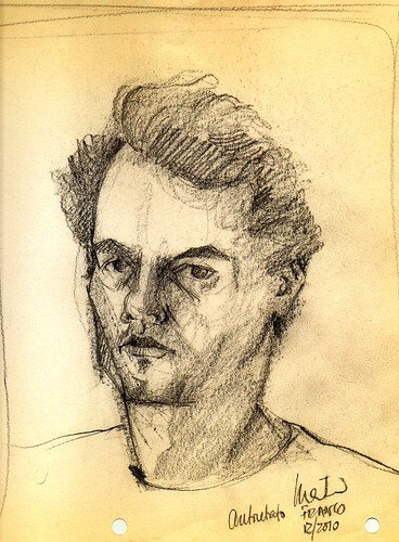 selfportrait in graphite by dibujandoarte