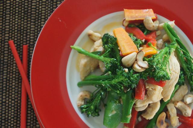 Chicken, cashew and ginger stir fry DSC02918