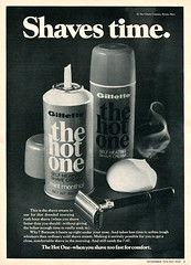 1970 The Hot One Shaving Cream Advertisement Hot Rod November 1970
