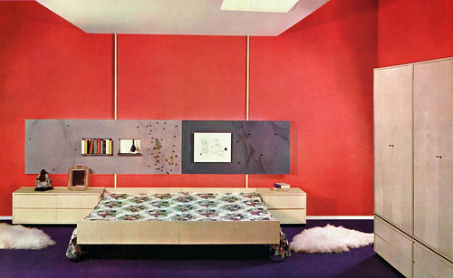 red wall bedroom