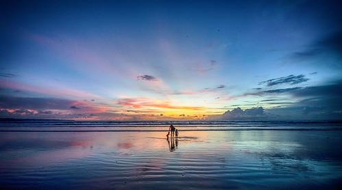 blue sunset sea sky bali beach water night dark sand nikon day ngc hdr kuta d7000 nikond7000