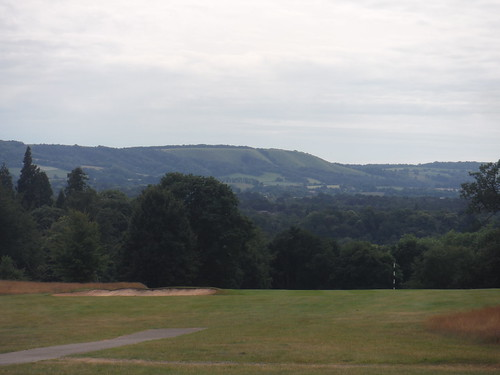 South Downs from Cowdray Golf Club