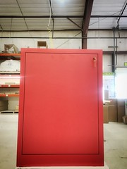 Custom Red Pedestal with Door
