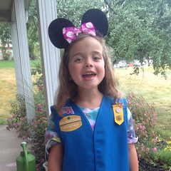 Off to her first #daisy meeting. #girlscouts #excited