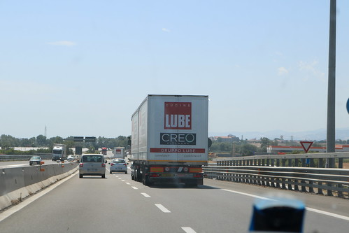10 wagons of this, all in a row, heading for Calabria.... we had to laugh.