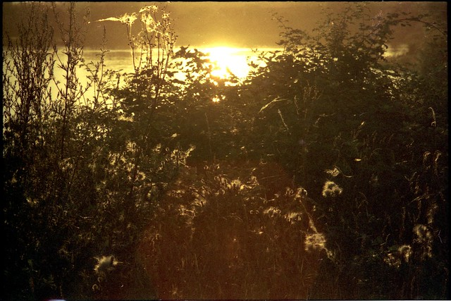 Sunset over Lake Hörblach