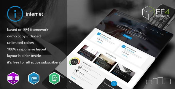 Internet v1.01 – Multipurpose & Internet Service Theme