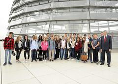 Schülerinnen und Schüler der Gesamtschule Barmen zu Besuch im Bundestag (28.09.2016)