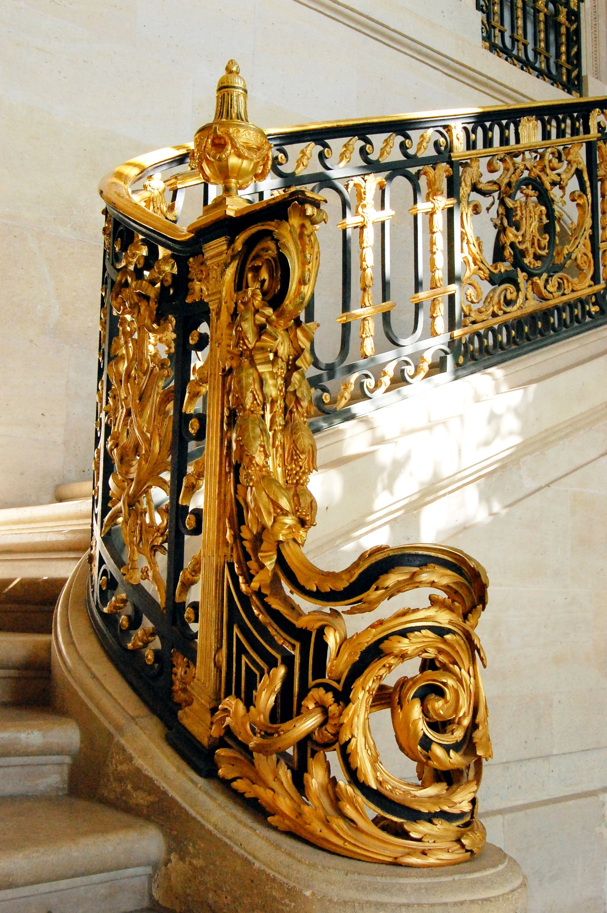 Stairway inside the Petit Trianon. Credit Trizek