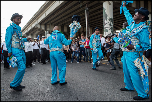 Treme Brass Band Leader and BMOL Member Benny Jones during the social aid & pleasure club's annual second line parade on October 23, 2016. Photo by Ryan Hodgson-Rigsbee rhrphoto.com