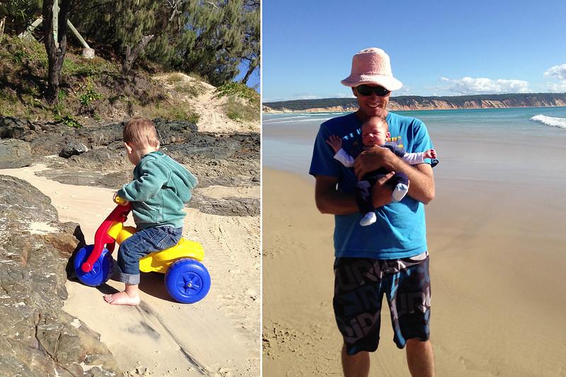 August 2014- Spencer's first beach trip003
