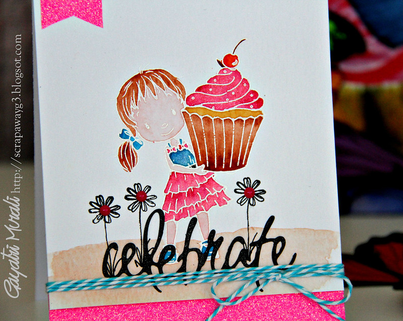 Pink girly card1 closeup