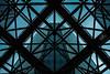 Iron, glass, concrete.