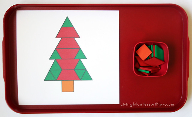 Christmas Tree Pattern Block Tray