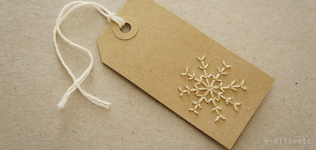 DIY Stitched Gift Tags by e-eliseetc
