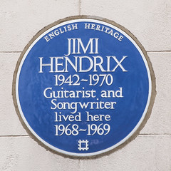 Photo of Jimi Hendrix blue plaque