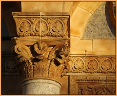 Column Capital and Architectural Detail: Lee Plaza Apartment Hotel--Detroit MI