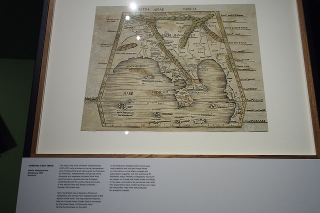 Undecima Asiae Tabula, Martin Waldseemuller (1513). Geo | Graphic exhibition, National Library of Singapore