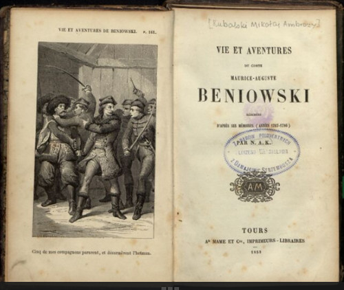 vida e aventuras do conde Mauríce Auguste Benyowsky