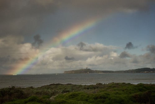 Rainbow over Pillar Point Harbor
