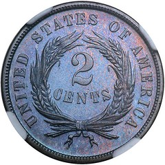 Lot 1070 1872 Two Cents reverse