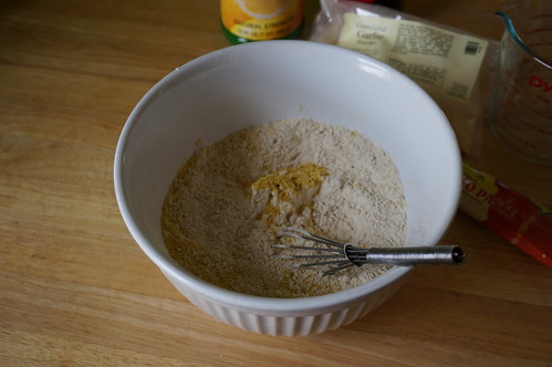 Vital wheat gluten flour and nutritional yeast