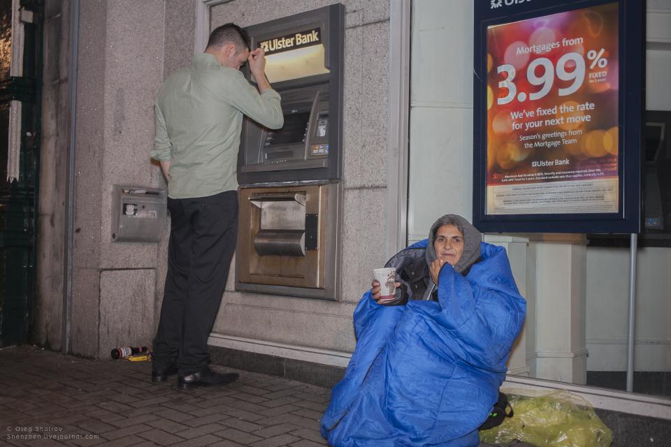 Romanian beggar
