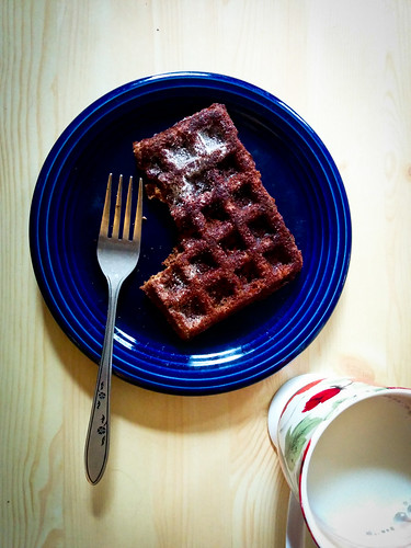 SmittenKitchen Gingerbread Waffle from Shy