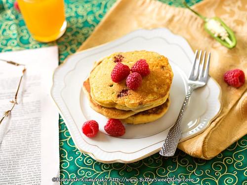 Raspberry-Jalapeno Cornbread Pancakes (2/2)