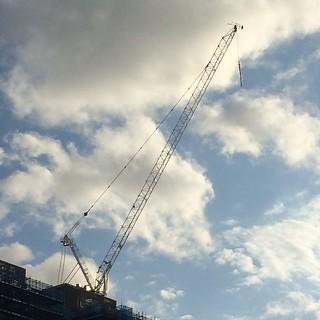Constructing the sky  #crane #clouds #bluesky