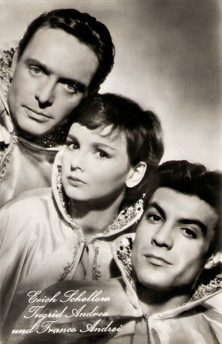 Erich Schellow, Ingrid Andree and Franco Andrei in Drei vom Variété (1957)